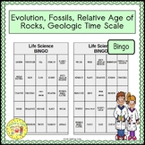 Evolution, Fossils, Relative Age of Rocks, and Geologic Time Scale BINGO