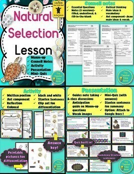 Evolution, Natural Selection, and Adaptation Complete Unit Bundle- 5E Lessons