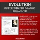 Evolution Differentiated Graphic Organizer Fold-Out Foldable with Key