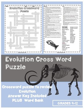 Evolution HS Crossword Puzzle
