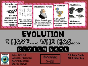 Evolution....I have.....Who has  Review Game