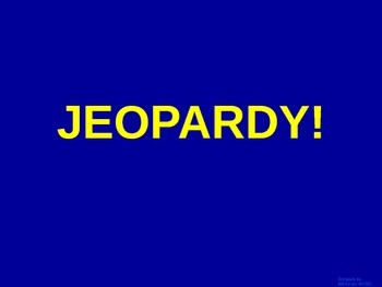 Evolution - Jeopardy Review