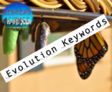 Evolution Keywords with Word Wall Cutouts (with & without
