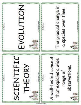 Evolution Vocabulary Cards