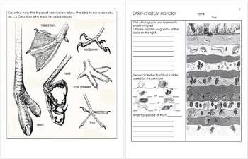 Evolution and Natural Selection Unit Homework