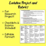 Evolution Project and Rubric