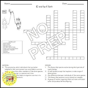 Evolution Crossword Puzzle
