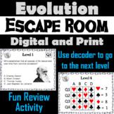 Evolution Activity: Escape Room - Science