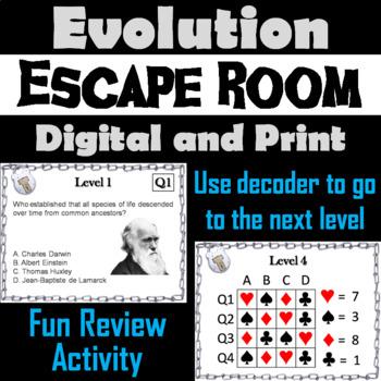 Evolution Activity: Biology Escape Room - Science