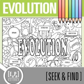 Evolution Seek and Find  Science Doodle Page