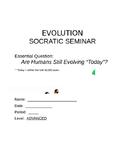 Evolution Socratic Seminar
