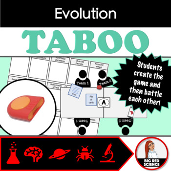 Evolution Vocabulary Taboo Review Game