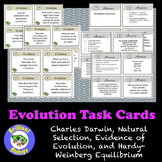 Evolution Task Cards: Darwin, Evidence & Mechanisms, and Hardy-Weinberg