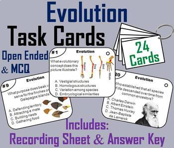 Evolution Task Cards, PowerPoint and Activity Mini Bundle
