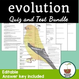 Evolution Test and Quiz Bundle