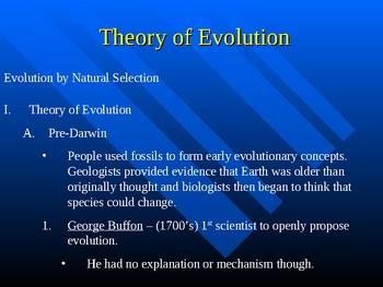 Evolution & Theory