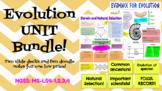 Evolution UNIT BUNDLE- Slide Decks and Doodle Notes! NGSS!