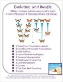 Evolution Unit Bundle - 28 files - PowerPoints Note Outlines
