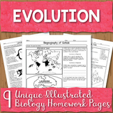 Evolution Unit Homework Pages