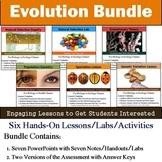 Evolution Unit - Natural Selection (Six 90min Lesson Bundle with Assessment)
