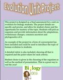 Evolution Unit Project & Human Evolution Notes