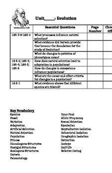 Evolution Unit Sheet