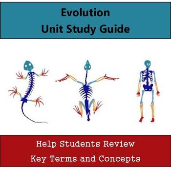 Evolution Unit Study Guide