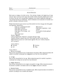 Evolution Unit Worksheet, Quiz, Anticipation Guide, Vocabulary