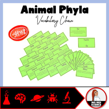 """Classification Warm-Up Game: """"I have, who has?"""" Vocabulary Chain (Animal Phyla)"""