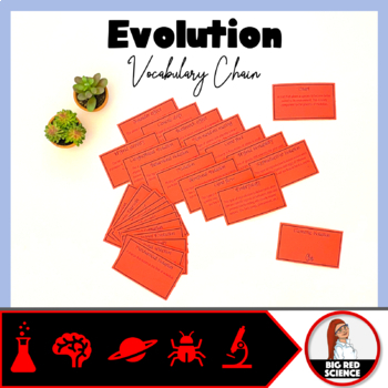 "Evolution Warm-Up Game: ""I have, who has?"" Vocabulary Chain"