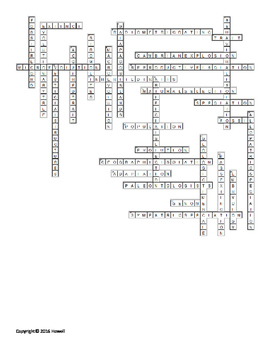 Evolution Vocabulary Crossword for Middle School Science