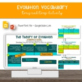 Evolution Vocabulary Drag and Drop [Google Slides]
