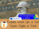 Evolution Warm Up or Exit Ticket Digital Task Card Set