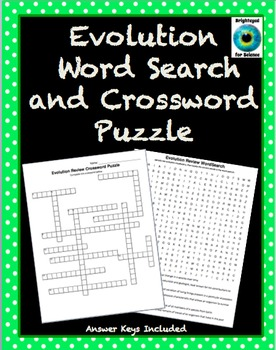 Evolution Word Search and Crossword Puzzle