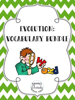 Evolution Word Wall and Vocabulary Bundle