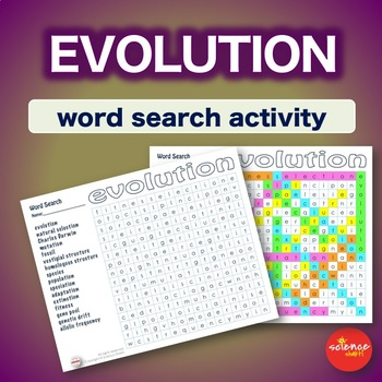 Evolution * WordSearch * Vocabulary * Warm Up * Bell Ringer