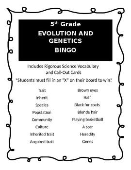 Evolution and Genetics BINGO