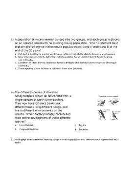 Evolution and Genetics Test for AP Biology