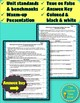 Evolution and Geologic Time Scale Unit Pre-Assessment or Warm-ups