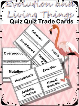 Evolution and Living Things Quiz Quiz Trade Cards