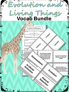 Evolution and Living Things Vocabulary Bundle