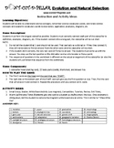 Evolution and Natural Selection Game Puzzle with Worksheet