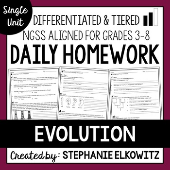 Evolution and Natural Selection Homework