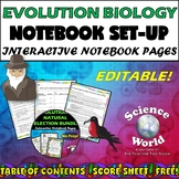 Evolution and Natural Selection Notebook: Set-Up {FREE!}