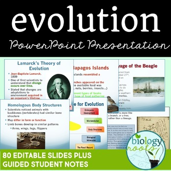 Evolution and Natural Selection PowerPoint (student notes included)