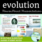 Evolution and Natural Selection PowerPoint Guided Notes