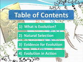 Evolution and Natural Selection comprehensive review PowerPoint