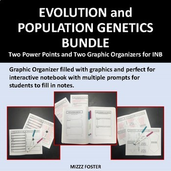 Evolution and Population Genetics Big Bundle: 2 Ppts and 2 Graphic Organizers