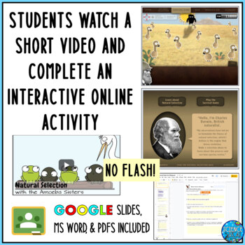 Evolution by Natural Selection With Darwin Virtual Lab Game WebQuest