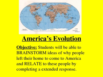 Evolution of America Power Point